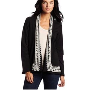 Lucky Brand Whitney Wrap Embroidered Cardigan Sz S